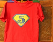 Superhero Birthday/Initial Shirt