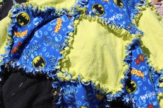 Batman Inspired Rag Quilt