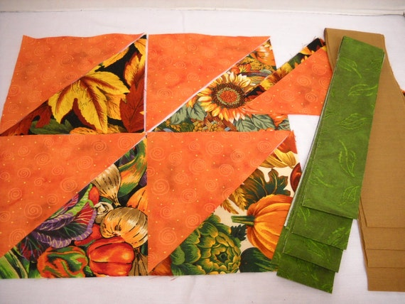 "Quilt Kit  Fall Pre Cut Table Runner Quick Quilt Kit ""Harvest Time""  by  ThriftyFabricsETC"