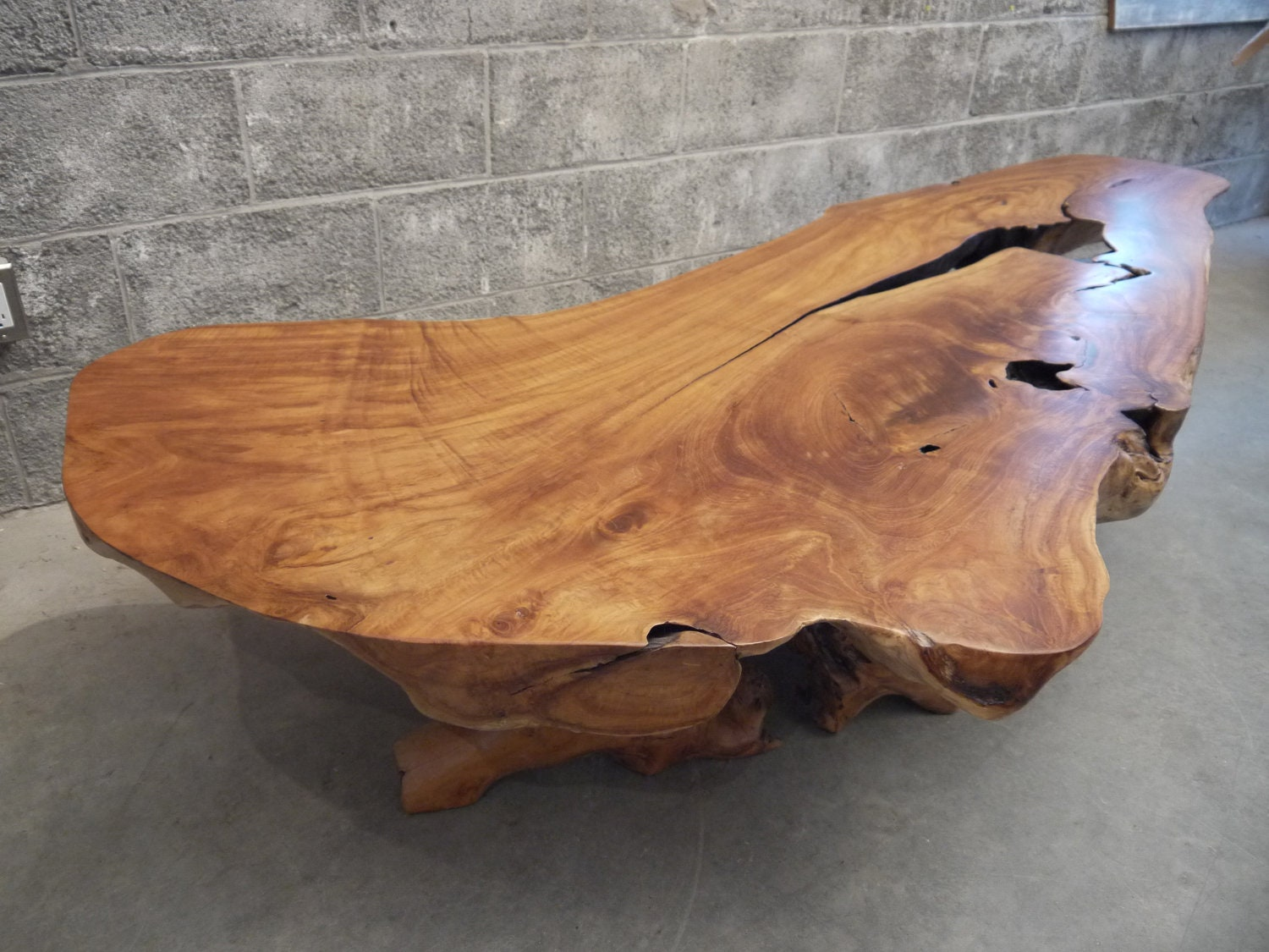 Teak Live Edge Coffee Table