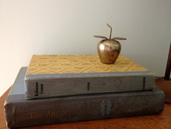 Vintage Brass Apple