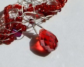 Red Wire Crochet Necklace