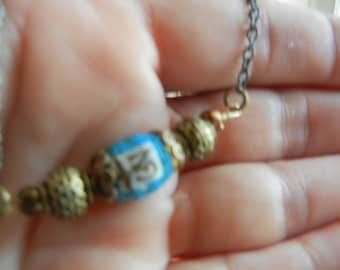 OM paper bead necklace