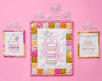 Macaron Stitcheries (wall hangings/quilts) PDF Pattern