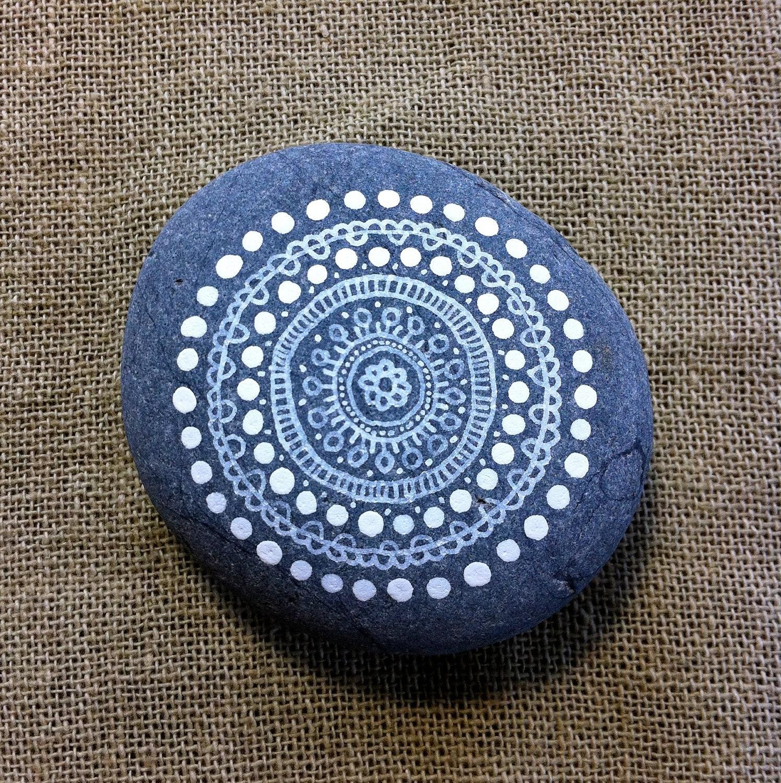 mandala painted pebble. Black Bedroom Furniture Sets. Home Design Ideas