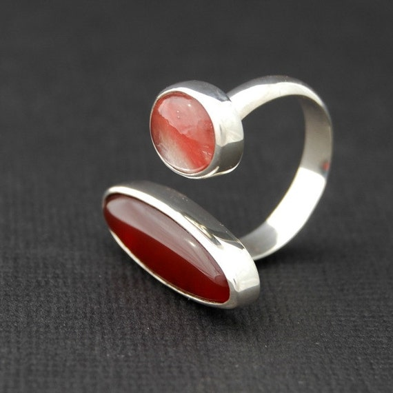 SALE - Stupid Love - sterling silver open ring - size 6.5
