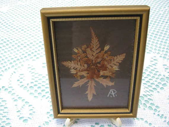 Vintage - Dried Flower Rectangular Picture Frame
