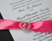 Metal Rhinestone Oval Buckles - Crystal Clear Ribbon Sliders 16x20mm- Set of 50 - Bow Centers - Wedding Invitation Buckles (BS2710)