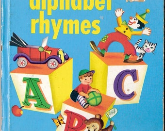 Alphabet Rhymes Vintage Whitman Tell A Tale Book Illustrated by Alys Nugent