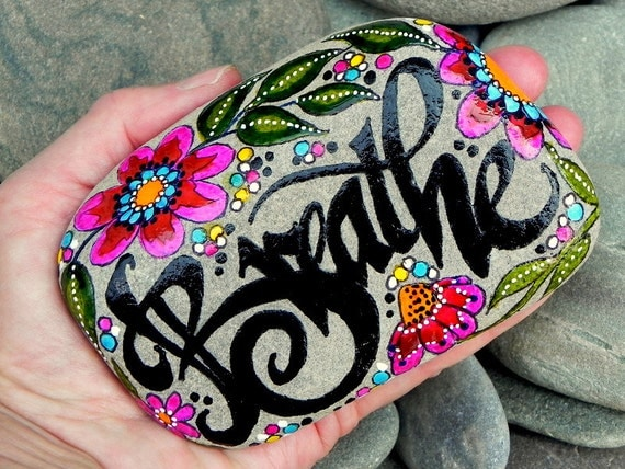 Breathe.../ Painted Stone / Sandi Pike Foundas / Cape Cod