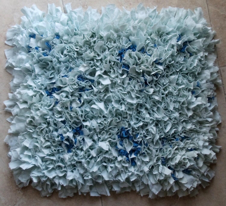 Fluffy Upcycled Rag Rug/ Bath Mat