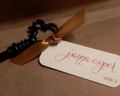 Wedding Favor Tag / Hang Tag / Place Card / Vintage Key / Autumn / Copper / Gift Tag Welcome Label from Darby Cards