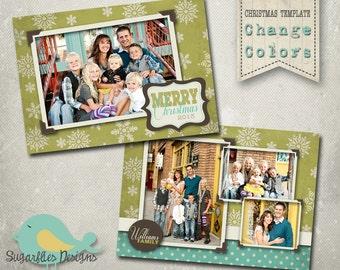 Christmas Card PHOTOSHOP TEMPLATE - Family Christmas Card 075