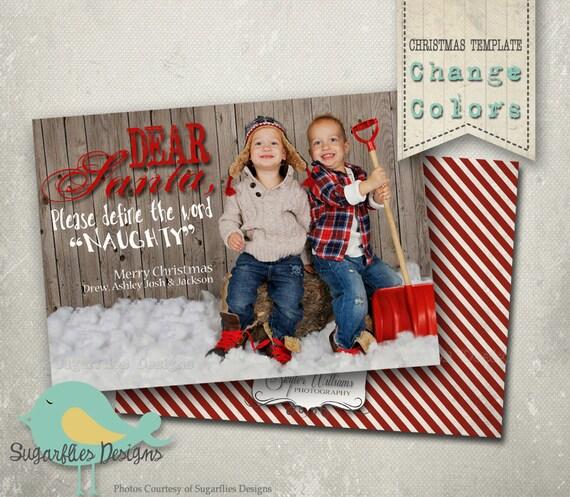Christmas Card PHOTOSHOP TEMPLATE Family Christmas Cards