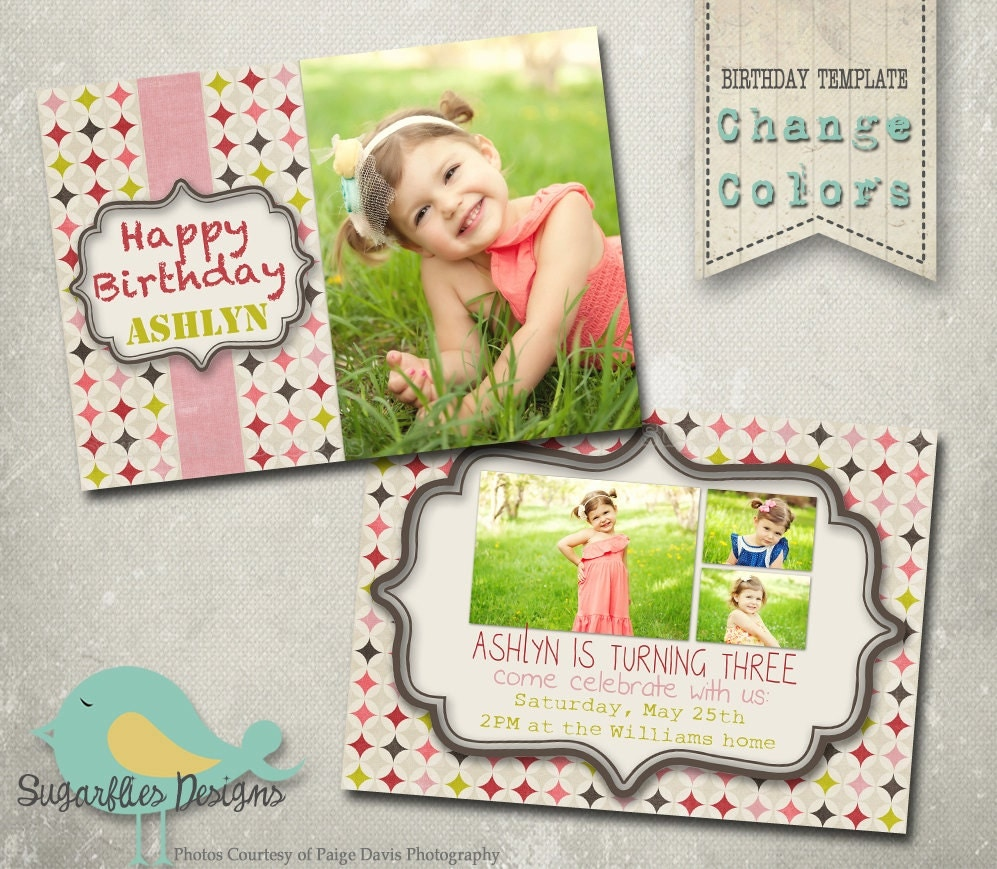 Photoshop Elements Birthday Card Templates