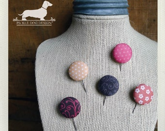 CLEARANCE! Blush Pink. Cork Board Stickpins (Set of 5) -- (Button, Vintage-Style, Shabby Chic, Jewelry Holder, Cute, Birthday Gift Under 10)