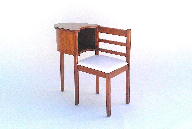Wood telephone table gossip bench