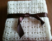 Soft Creamy Crib Blanket