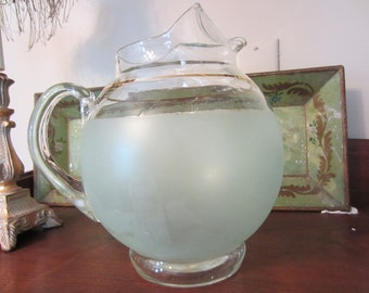 1950's Frosted Lemonade Pitcher