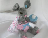 "Elizabeth  ""Izzy""   hand made knit, needle felted, stuffed kids toy"