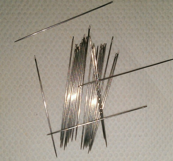Size 12 Sewing and Beading Needles.