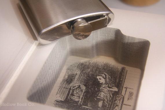 Hollow Book & Secret Flask - Lewis Carroll (Alice in Wonderland)