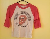 Reserved for eyluld/Vintage Rolling Stones Baseball T-shirt Size X-Small/Small