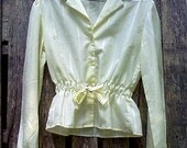 Ivory Blouse with Bow Tie Waist