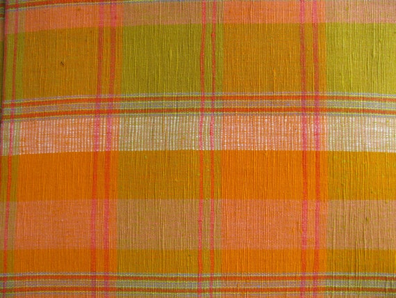 Destash-Upholstery fabric in shades of orange and spring green