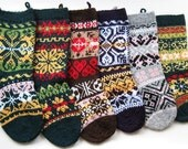 6 Christmas stockings pattern PDF knitting christmas decoration
