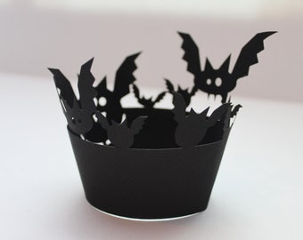 Bat Halloween Cupcake Wrapper (Set of 12)