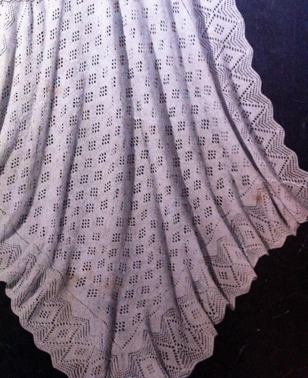 Rockabye baby blanket Australian Knitting epattern 1940s