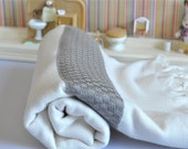 Peshtemal Towel Turkish bath Towel Soft and Lightweight ivory brown striped