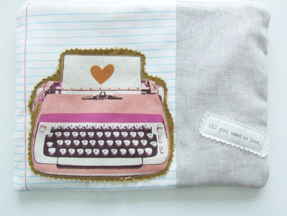 Typewriter Fabric Notebook Fabric Notebook Pouch Typewriter Bag