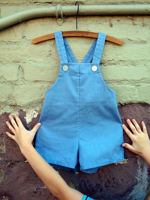vintage light blue shortalls romper jumper