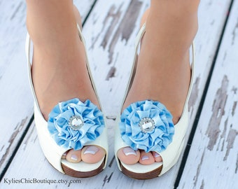 Light Blue Shoe Clips - Wedding, Bridesmaid, Date Night, Party, Everyday wear