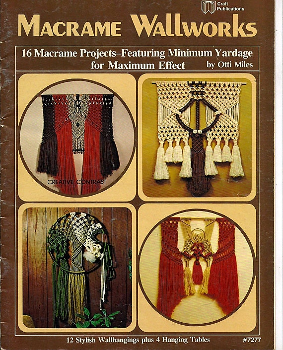 Macrame Wallworks  Macrame  Pattern Book Plaid 7277