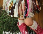 Photo Prop Baby Shower Gift All About Autumn (Newborn) Shabby Chic Fabric Scrap Tutu