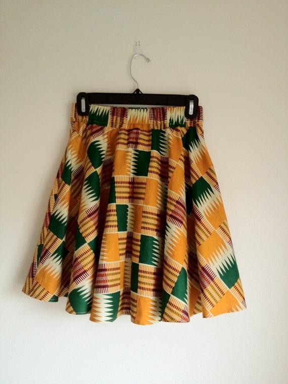Kente  Circle Skirt for Women- mini skirt