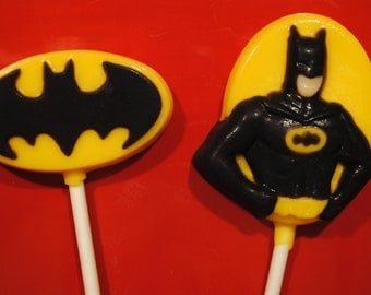 Bat Guy Chocolate Lollipops