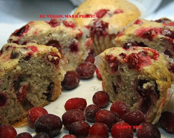 Vegan Super Healthy and Delicious Cranberry Tangerine Flax Seed Muffins, love,natural,healthy,wedding,birthday.