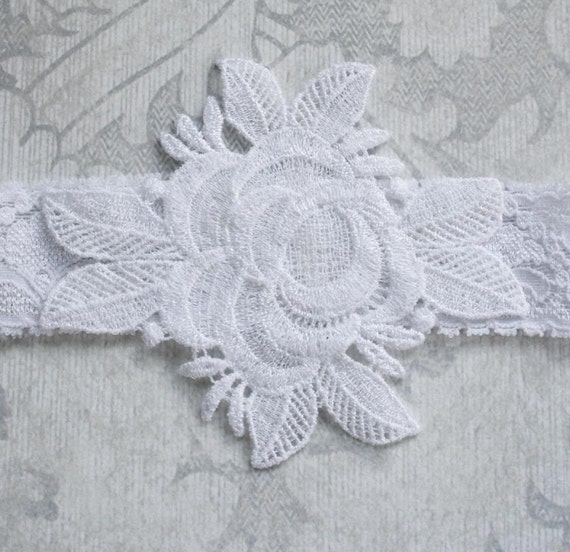 From the Gilded Dragonfly -INNOCENCE- vintage inspired newborn white lace headband for baptism or wedding
