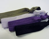 Purple Pack - Shades of Purple Elastic Hair Bands - Lapis, Purple, Lilac, Stone