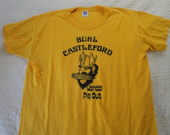 Vintage Buhl Castleford Pig Out Tshirt.