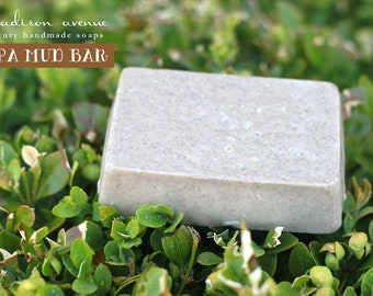 Dead Sea Mud Mineral Handmade Spa Bar Soap for face body and sensitive skin