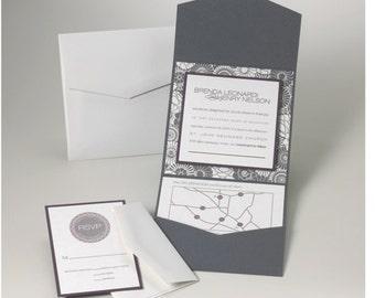 Wedding Invitations -  London Fog