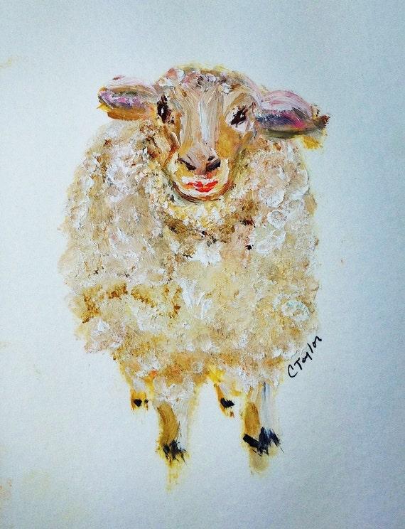 Elsie Original Oil Painting on Paper 4x6