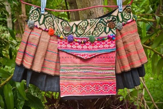 Dharma Tribal Hemp Mini Skirt