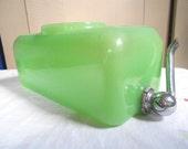 Depression Clambroth Green Jadite Jadeite Fridge Ice-Box Water Server Jar Sneath Glass FREE SHIPPING