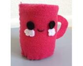 Pink Coffee Cup Pin Cushion / Plushie